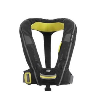 Spinlock - Deckvest Lite+ felfújódó mentőmellény biztonsági hevederfüllel fekete uniszex